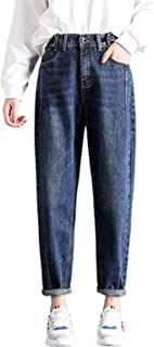 Miwaimao Loose Harén Vintage Jeans Mujer Alta Cintura Azul Claro Novio Vaqueros Para Mujer