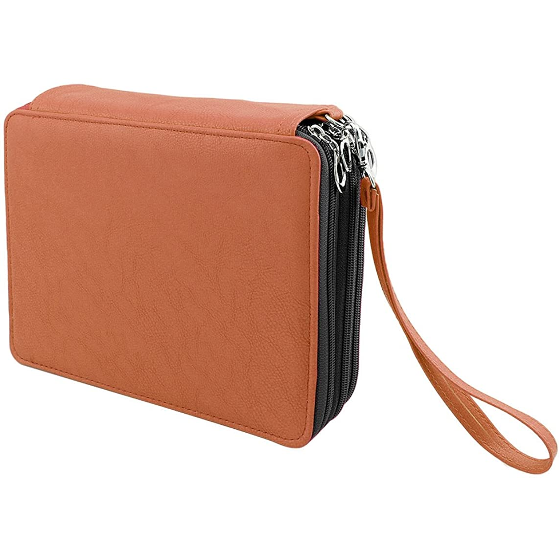 Shulaner Colored Pencil Case Organizer PU Leather Large Capacity Portable Pencil Bag, 126 Slots