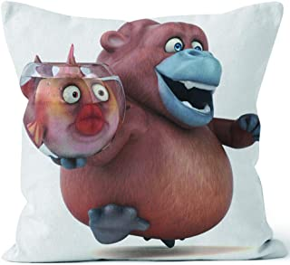 Nine City Fun Orang outan 3D Sack Burlap Pillow,HD Printing Square Pillow case,20
