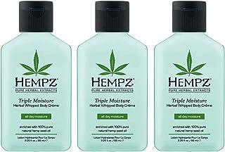 Hempz Triple Moisture Herbal Whipped Body Creme 2.25 Ounce
