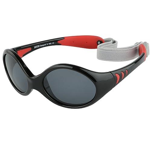 2385fff1ec5e7a DUCO Kinder Sonnenbrille Polarisierte Sportbrille TPEE Flexibeles Gestell  für Baby Mädchen oder Junge 0-24