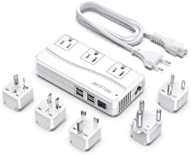 BESTEK International Power Adapter 250W, 220V to 110V Step Down Travel Voltage Converter with 4-Port USB Including US/AU/E...