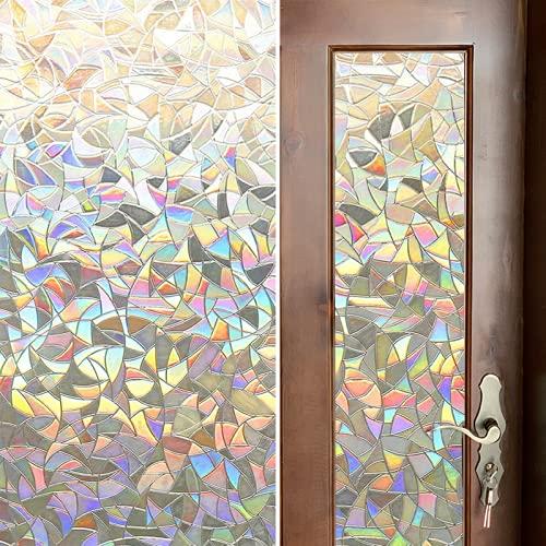 Película para Ventanas de privacidad Rainbow 3D, Pegatinas Autoadhesivas Anti-Ultravioleta para Ventanas, adecuadas para Cocina, baño, balcón K 45x100cm