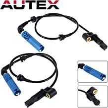 AUTEX 2PCS ABS Wheel Speed Sensor Front Left & Right ALS436 compatible with BMW 320i 2002-2004 2.2L/BMW 325Ci 2001-2006 2.5L/BMW 325i 2002-2005 2.5L/BMW 330Ci 2001-2006 3.0L/BMW 330i 01-05 3.0L
