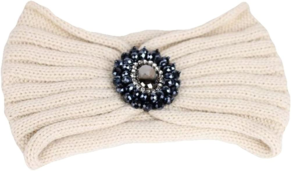 Freedi Womens Elastic Headband Knit Jewelry Head Wrap Headwear Accessory
