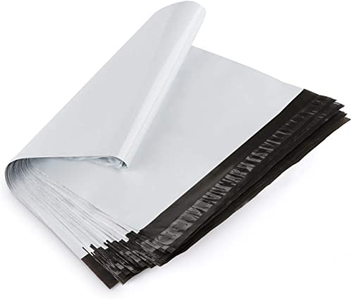 ilauke 60pcs Sacs d'expédition Plastique 35 * 45cm+5.5cm Enveloppes Plastique Sacs d'expédition Couleur Blanc Pochett...