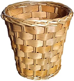 Home Kitchen Trash Cans الروطان نفاياتباسكيت الرجعية القمامة يمكن مكتب المنزل دون غطاء القمامة يمكن العتيقة سلة تخزين الزخ...