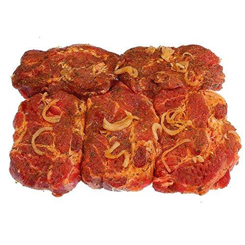 Eingelegte Steaks vom Schweinekamm 10 Stück Vorteilspack =. 2.000 g
