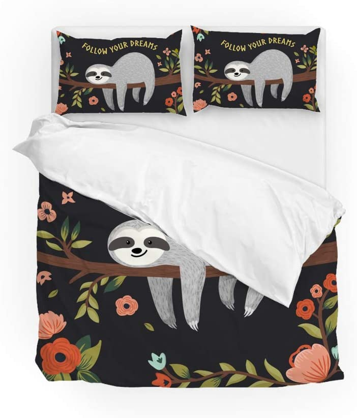 Indefinitely LifeCustomize Sloth Oakland Mall Follow Your Dreams Bedding Pie Duvet Cover 2