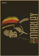 Decoración de la barra de café y muestra el transporte de música se combinan papel retro estilo Bob Marley Reggae,H218,30x21cm