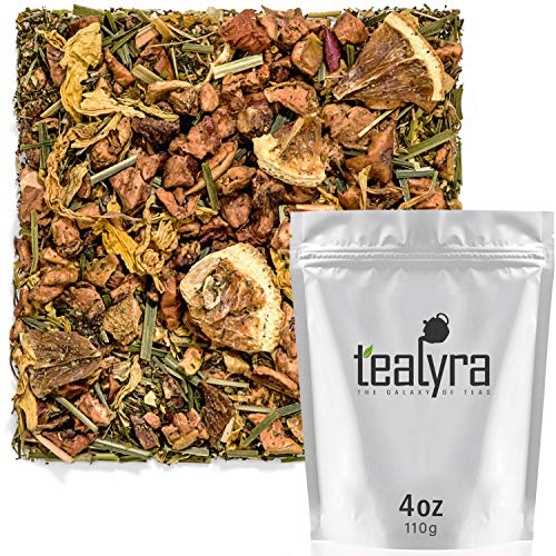 Tealyra - Satsuma Mint Tea - Lemongrass - Orange - Loose Leaf Tea - Fruit Tisane - Bedtime Relaxing Herbal Remedy - Hot and Ided - Caffeine-Free - 112g (4-ounce)