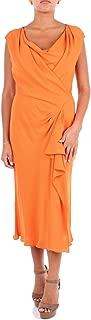 ALBERTA FERRETTI Luxury Fashion Womens A047501380061 Orange Dress | Season Outlet