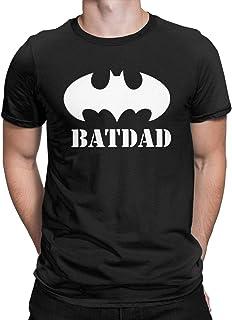 CHAMPRINT Super Batdad Bat Hero Funny T Shirt Gifts Dad Father Uncle Tops Tees for Men