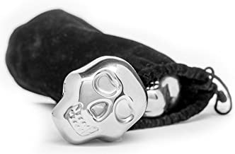 Fun and Whimsical Sagaform Club Skull Stainless Steel Drink Stones (Set of 2)