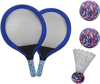 29052e26e LIOOBO 1 par de Tenis para niños Raqueta de bádminton Palying Ball Raquetas  para jardín de