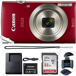 Powershot Ixus 185 / ELPH 180 20MP Compact Digital Camera Red with 32GB Memory Card