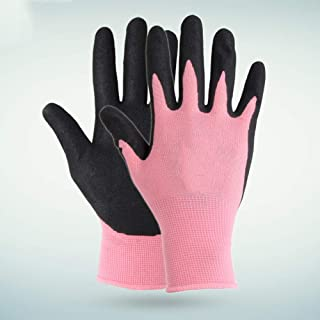 Asdfnfa Glove Wear-Resistant Anti-Slip Nitrile Coated Labor Insurance Mechanical Work Gloves asdfnfa (Size : XS)