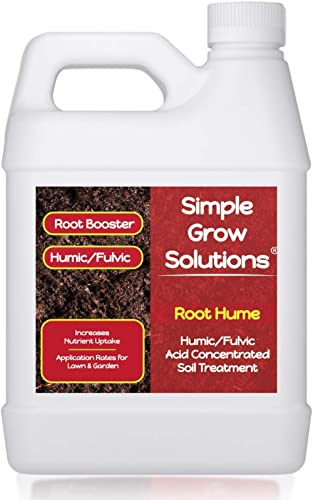 Raw Organic Humic Fulvic Acid- Liquid Carbon - Root Hume- Simple Grow Solutions- Natural Lawn & Garden Treatment- Nut...