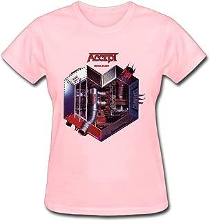 Refined Accept Band Logo Women's Cotton Short Sleeve T-Shirt