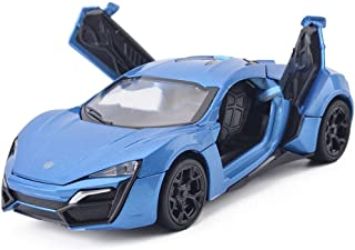 MyLifeUNIT 1:32 Scale Lykan Hypersport Blue Die-cast Car Model Collection light &Sound