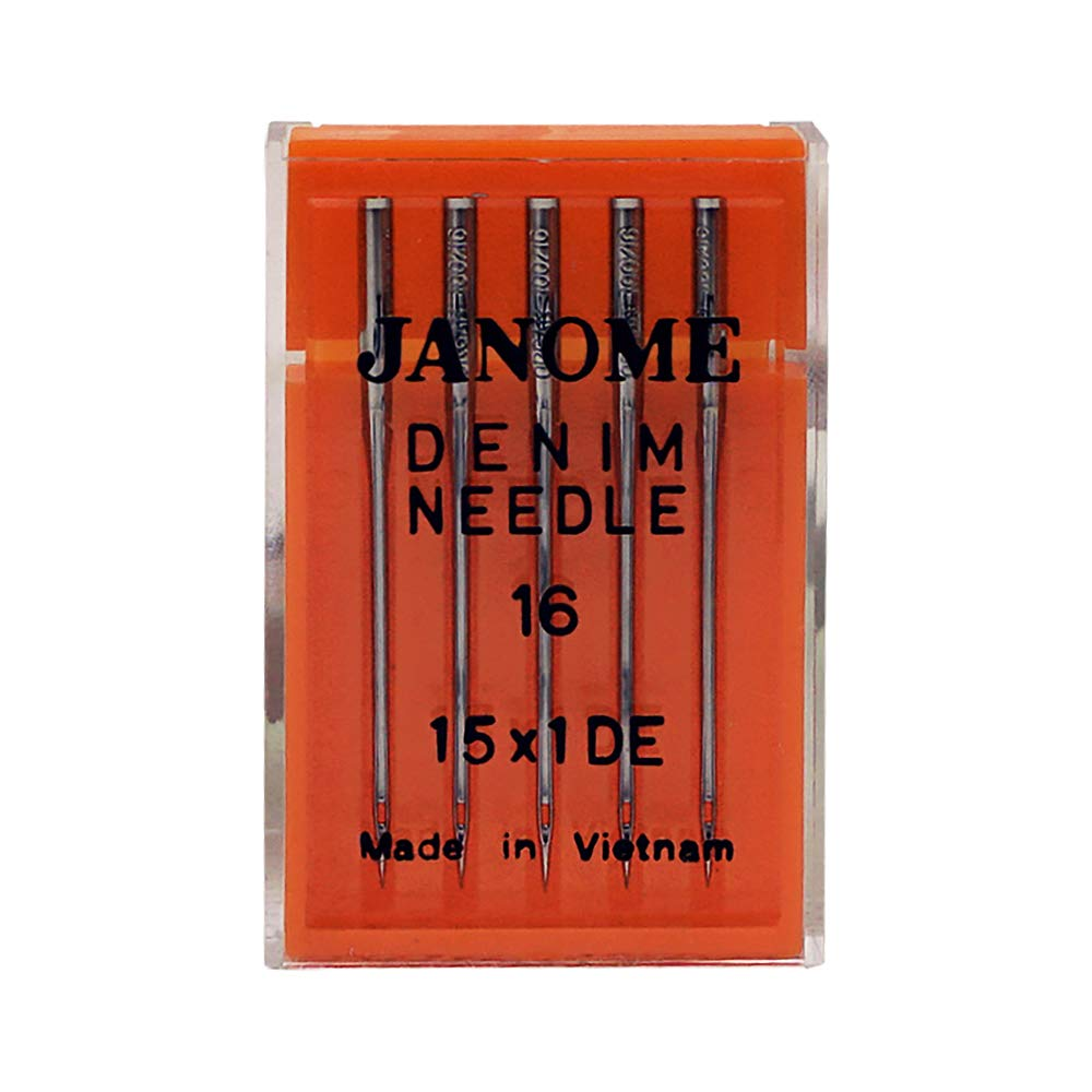 5 Agujas Janome Jean Size 16