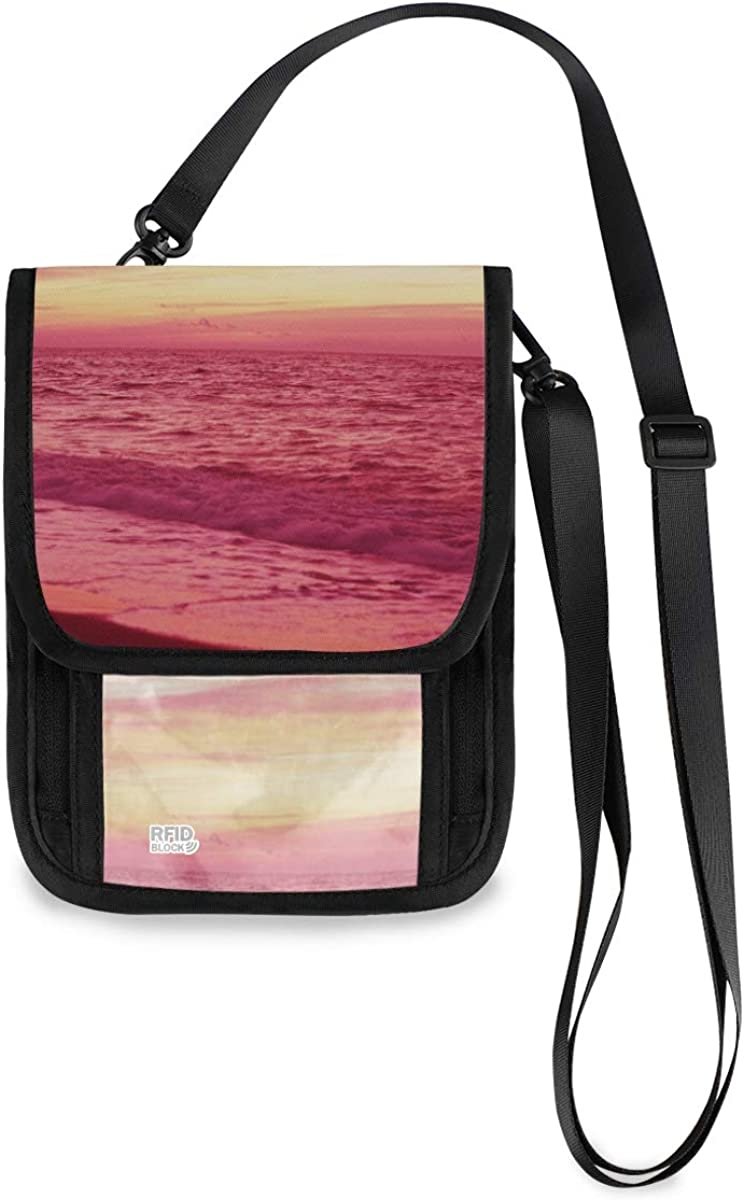 VIKKO Pink Sunset Travel Neck Wallet Blocking - Max 82% OFF Small Sale With RFID