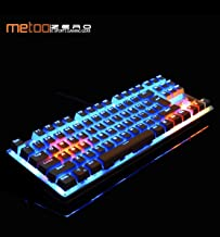 Metoo ZERO Gaming Mechanical Keyboard Spanish/Russian/French/English Multilingual Support with Backlight Anti-Ghosting (China/Black English 87 Key/Black Switch)