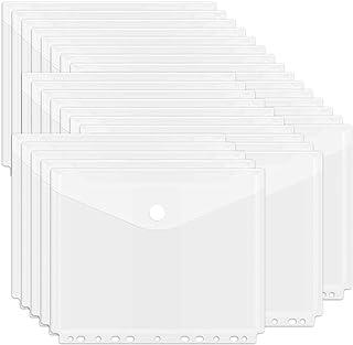 Yolistar Pochette Porte Document Transparente,Porte-documents en plastique A4, 24 Pochettes a4 Pochette Plastique pour Ran...