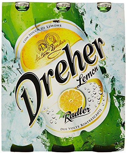 Birra Dreher Radler 3 x 0,33 l, 2% Alkohol.