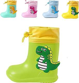CELANDA Bambini Dinosauro Stivali da Pioggia Ragazze Ragazzi Impermeabile Antiscivolo Gomma Stivali Bambino Piccolo Chiusu...