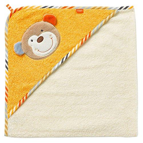 Fehn 081503 Kapuzenbadetuch Koala – Bade-Poncho aus Baumwolle mit Koala Motiv für Babys und Kleinkinder ab 0+ Monaten – Maße: 80x80cm