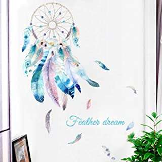 ELOOR Dream Catcher Feather Wall Mural Decal Wall Decals Peel and Stick Vinyl Art Wall Stickers for Living Room Girls Wome...
