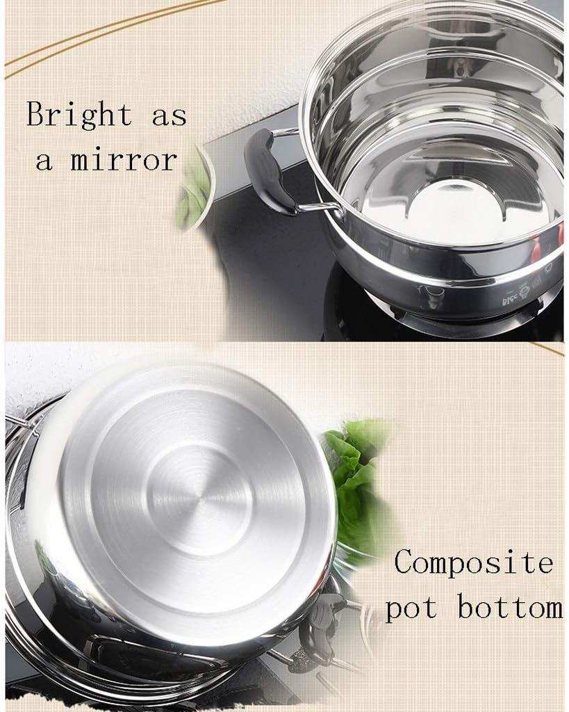 AYHa Multi-usages à vapeur Pot   Marmite de haute qualité   Batterie de cuisine Pan   avec couvercle en acier pur et non-Slip Stay-Cool bakélite Poignées   lave-vaisselle,30cm 32cm