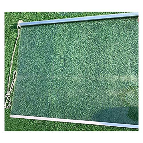 XJJUN Persianas Enrollables Transparentes, Resistente A Los Rayos UV, Panel Lateral Impermeable, Cortina De Partición, Sin Perforaciones, para Barbería De Mostrador De Comercio De Oficina