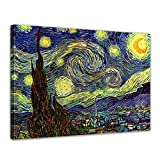 Leinwandbild Vincent Van Gogh Sternennacht - 50x40cm quer -