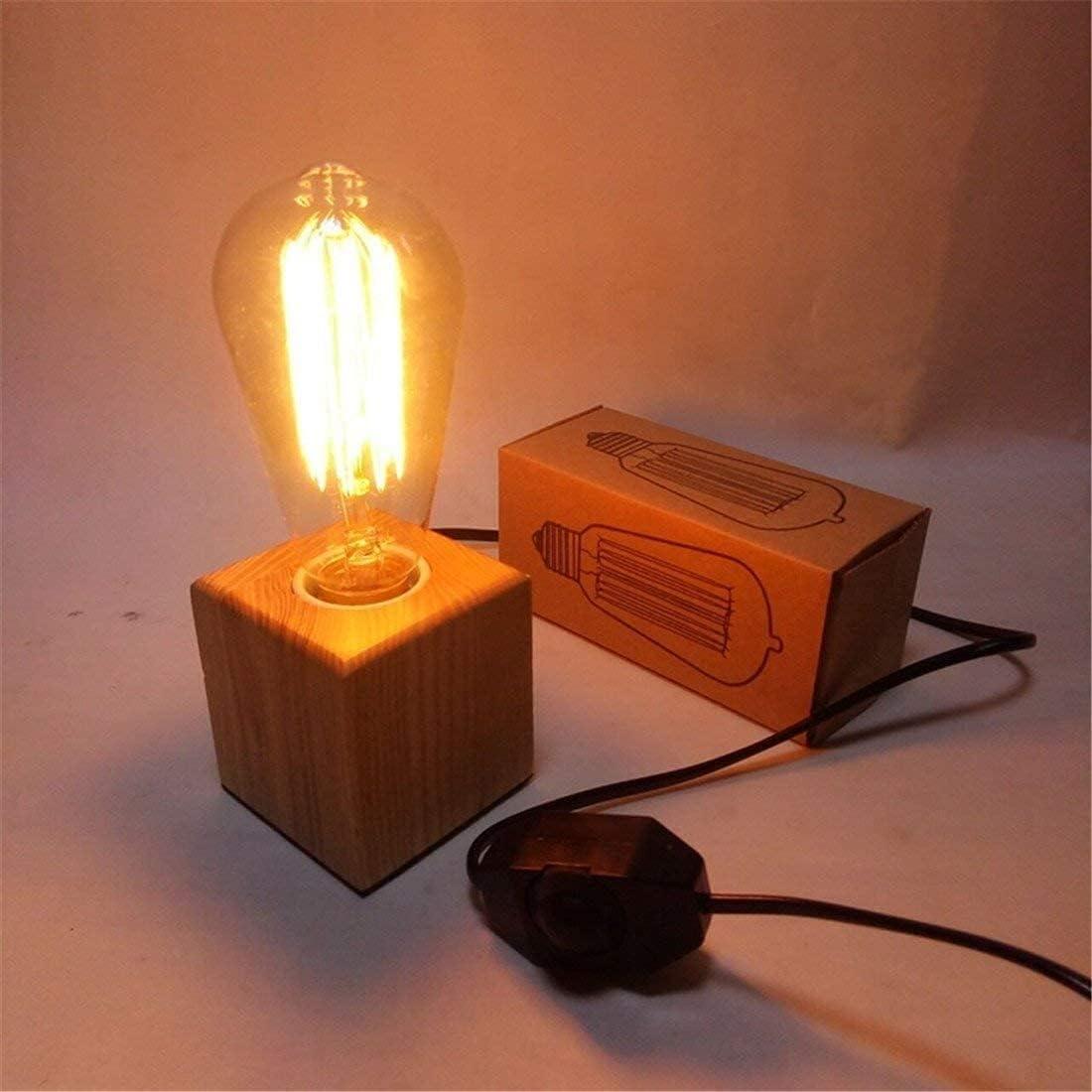 Bombing new work ANBF Bedside Lamp Dimmable Minimalist Creative Modern Cheap SALE Start Retro Wood