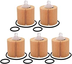 YOUNAR 5PCS 04152-YZZA1 04152-31090 Engine Oil Filter Fit for Toyota Highlander Camry Rav4 Sienna Avalon Lexus PTR43-00082 ES350 RX350 IS250 GS350 RX450H NX200t