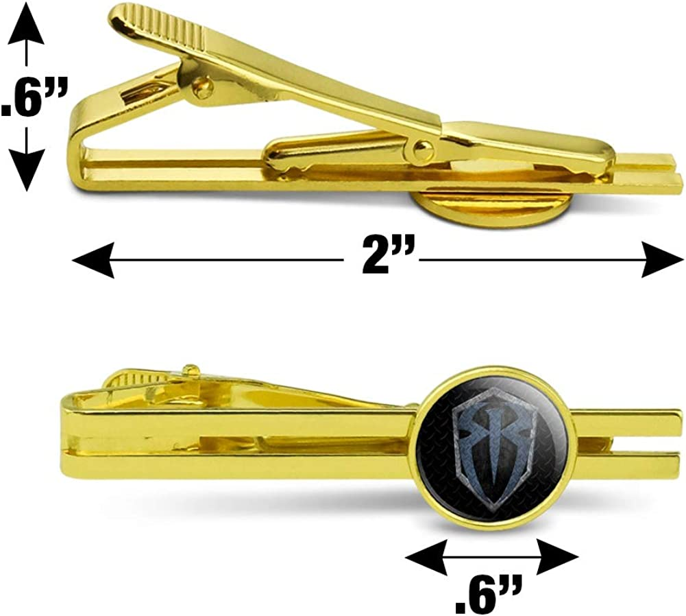 GRAPHICS & MORE WWE Roman Reigns Steel Round Tie Bar Clip Clasp Tack Gold Color Plated