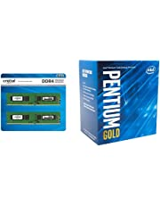 CFD販売 デスクトップPC用メモリ PC4-19200(DDR4-2400) 8GB×2枚 / 288pin / 無期限保証 / Crucial by Micron / W4U2400CM-8G & Intel CPU Pentium G5400 3.7GHz 4Mキャッシュ 2コア/4スレッド LGA1151 BX80684G5400【BOX】