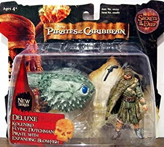 Pirates of the Caribbean - Secrets of The Deep - Deluxe Koleniko Flying Dutchman Pirate with Expanding Blowfish by Zizzle