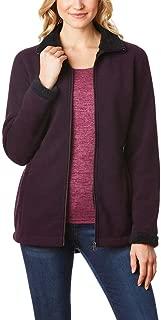 Ladies Sherpa Lined Fleece Jacket, Wine, Small