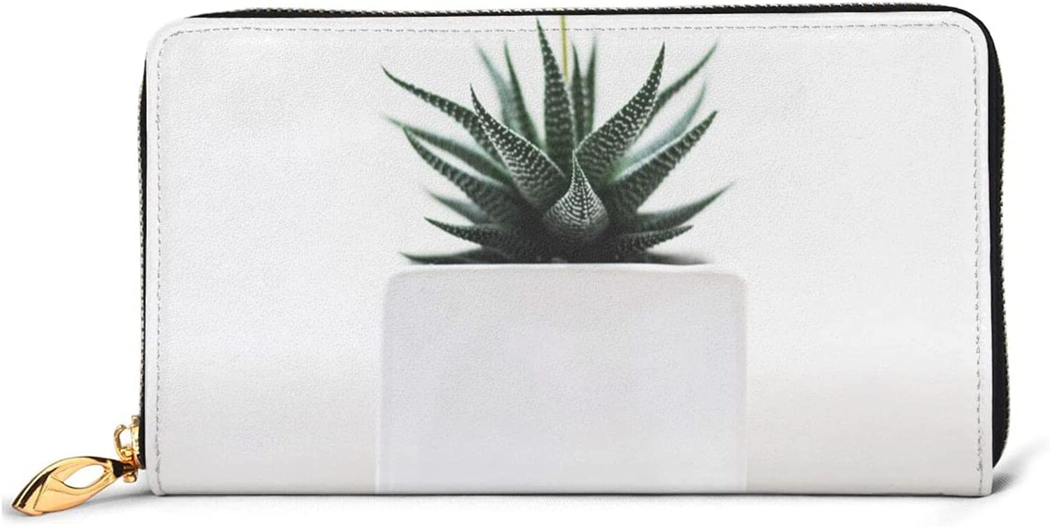 Plant Leather Wallet Max 69% OFF Women Long Zip Clutch Trav Around Purse Bag Max 53% OFF