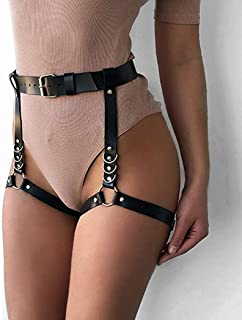 Victray Boho Leather Leg Chains Body Chain Summer Beach Thigh Chain Fashion Body Jewelry for Women and Girls
