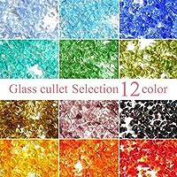 Craft Tamago 【約10g】ガラスフリット ガラスカレット 選べる12カラー 1粒1-3mm前後 【オレンジ】