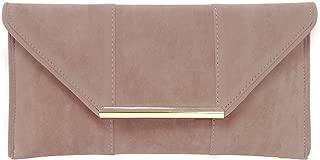 Faux Microsuede Envelope Clutch