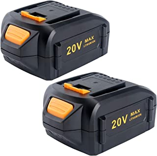 Lasica 2Pack 5.0Ah Replacement Worx Battery 20V WA3578 WA3525 WA3520 WA3575 WA3512 WA3522 WA3544 for Worx 20 Volt Cordless Power Tools WX550L WG629.9 WG546 WG545 WG801 WG320 WX176L.9 WX169L.9 WX682L.9