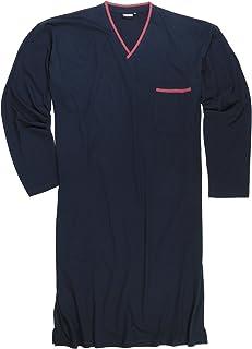 ADAMO Blu Scuro Taglie Extra Large Camicia da Notte, XXL Fino 10XL