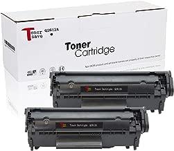 TonerSave Q2612A Toner HP 12A Toner Cartridge for HP Laserjet 1018 1020 1012 3050 3030 1022 1015 3015 3055 1010 3020 3050Z 3052 M1005MFP M1319MFP 2 Pack