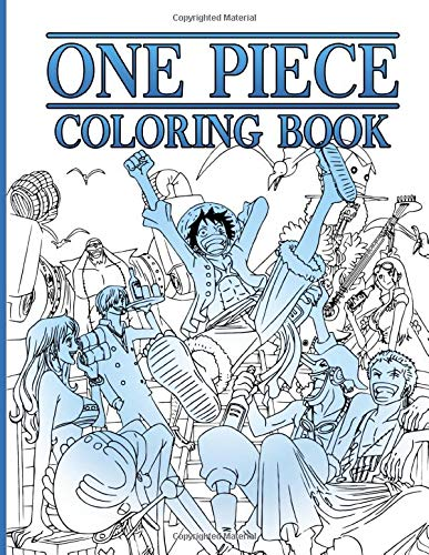 One Piece Coloring Book: One Piece Stress Relieving Adult Coloring Books
