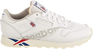 Reebok Womens Classic Leather Sneaker, Adult, White/Dark Royal/Excell